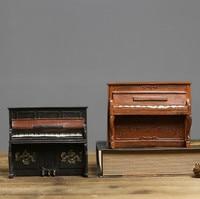 Retro Piano Model Home Decoration Craft Resin Vintage Furniture Handicraft Hotel Bar Home Decor Miniature Resin Furnishing