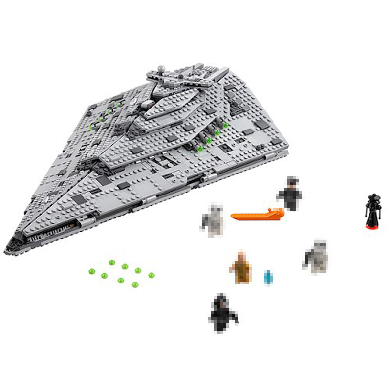 Lepin 05131 1585Pcs Genuine Star Plan Series The First order Star Model Destroyer Set Building Blocks Bricks Model Toys 75190