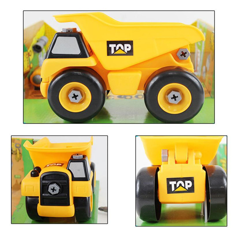 1PC Fashion Kids Child Baby Disassembly Assembly Cartoon truck Car Toy 5.28
