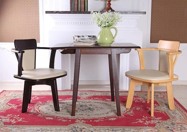 2015 New 100% oak +PU dining chair, Wooden dining chair 360 rotated with handrails,2 style dining room furniture,wood furniture
