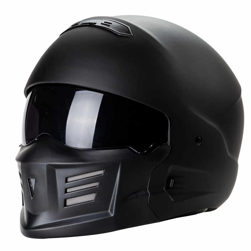 Zombies carreras exo-combate motocicleta casco ZR-881 aprobada por el DOT casco de seguridad agresivo outlooking