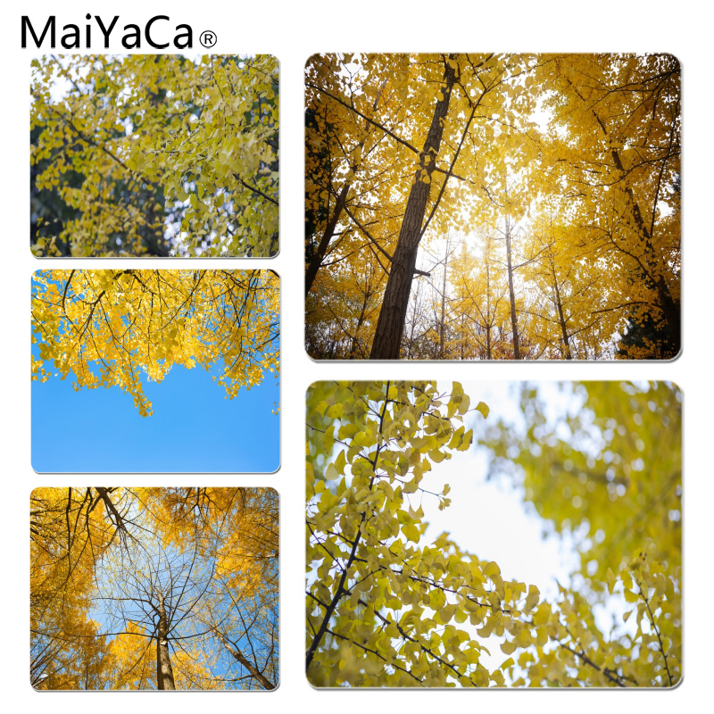 MaiYaCa Beautiful Anime Ginkgo tree in autumn Customized laptop Gaming mouse pad Size for 180*220*2mm and 250*290*2mm Mousepad