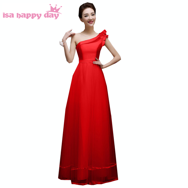 77079b3e6e5 new arrivals 2019 teens elegant one shoulder gowns dinner red evening  dresses ladies size 16 occasion dress formal long H3372