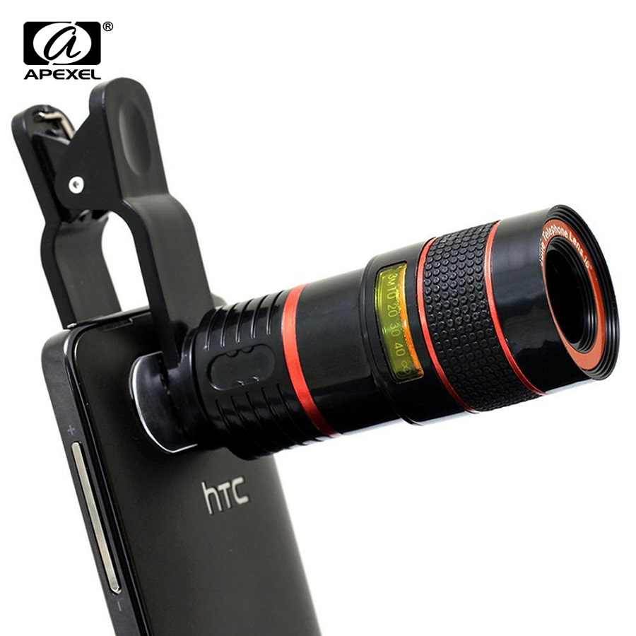Apexel 8x Zoom Mobile Phone Telescope Lens for iPhone 7 8 6 Plus Cell Phone Universal Camera Lenses for Samsung s9 xiaomi redmi