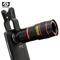 2015 Fashion 8x Zoom Mobile Phone Telescope Clip Lens For IPhone 5 6 6 Plus Cell