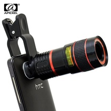Apexel 8X Zoom Telescope Camera Lens with Universal Clip for Smart Phones