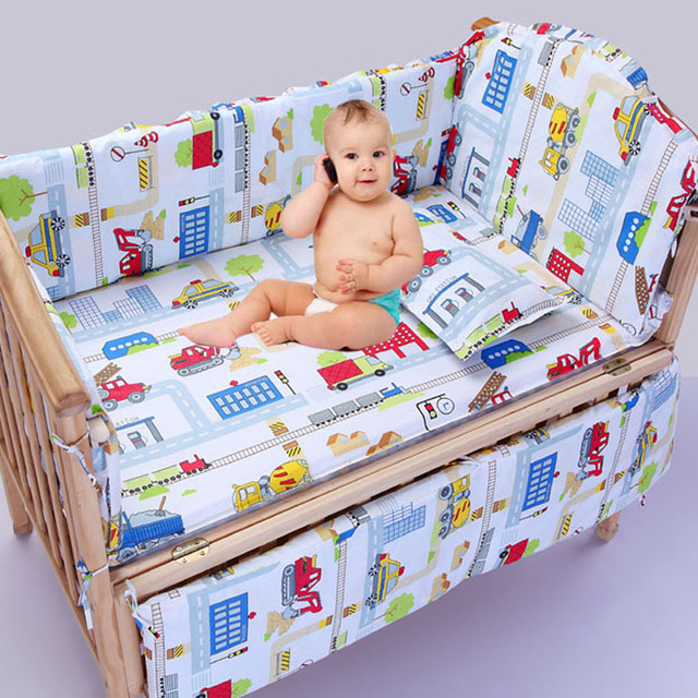 2016 baby bedding set cotton curtain crib bumper baby cot sets baby bed bumpers