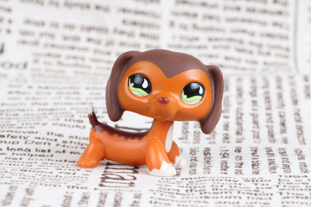New pet Genuine Original LPS #675 Savannah Savvy Dachshund Dog AUTHENTIC RARE Collection figure Toys pet shop toys dachshund 932 bronw sausage dog star pink eyes