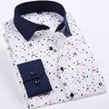 Men Shirt Long Sleeve Causal Dress Mens Shirts Mens Clothes Camisa Masculina Print Shirt Fashione New 2017