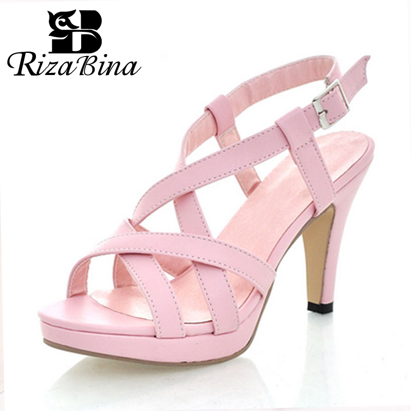 RizaBina Size 32-43 Women's <font><b>High</b></font> <font><b>Heel</b></font> <font><b>Sandals</b></font> Gladiator Shoes Women Lady <font><b>Sexy</b></font> <font><b>Platform</b></font> <font><b>Sandals</b></font> <font><b>Heels</b></font> Summer Shoes <font><b>Sandals</b></font> image