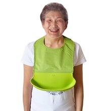 5 new design adult waterproof silicone  saliva towel wholesale adult cartoon waterproof aprons adult Bibs adult ish