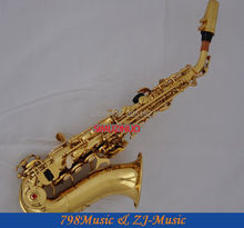 Gold Lacquer Soprano Saxophone Bb key to High F key and G key