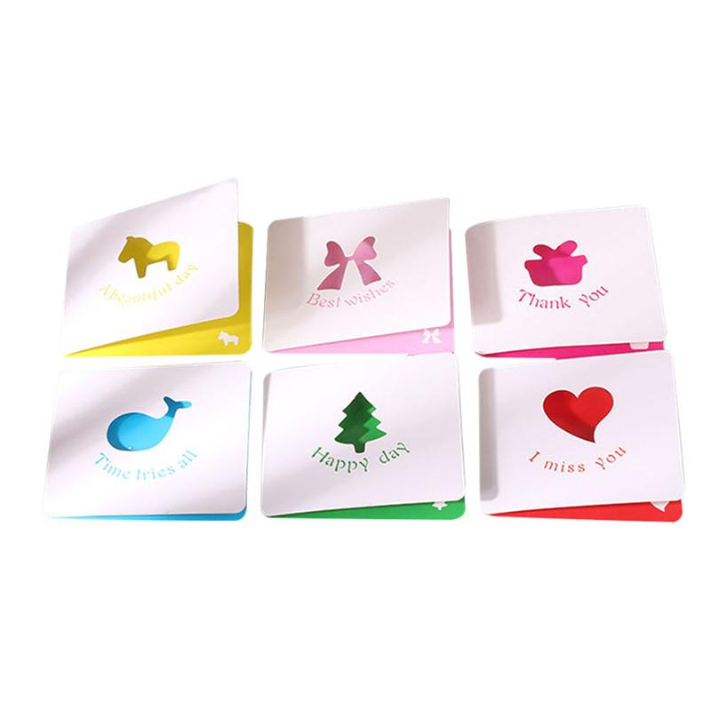 Us 8 93 34 Off 50pcs Greeting Cards Lovely Folding Colorful Hollow Small Message Card Invitation Card For Thanksgiving Valentines Day Party In Cards