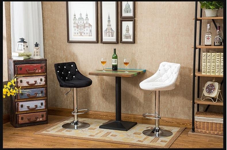 Violette Farbe Flanell Tuch Hocker Cafe Bar Stuhl Einzelhandel Großhandel  Freies Verschiffen Stuhl Hocker Design(