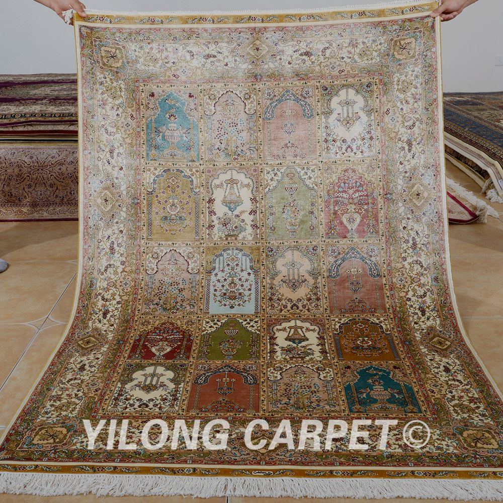 Yilong 4'x6' Traditional garden living room carpet vantage hand knotted cleaning persian rugs (0122)