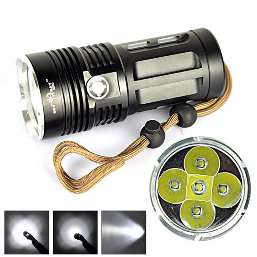 Cycling Bicycle Front Head Flashlight 8000 LM 6T6 5x XM-L T6 LED Flashlight Torch Lamp 3 Modes Super Bright Strobe Effect M25 3800 lumens cree xm l t6 5 modes led tactical flashlight torch waterproof lamp torch hunting flash light lantern for camping z93