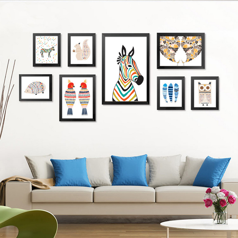 Nordic Decoration Poster Modern Cartoon Animals Print Canvas Painting Kids Room Home Decor Wall