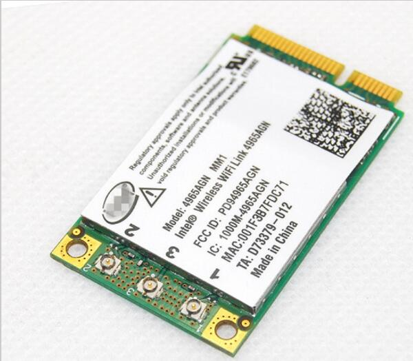 For HP Intel Dual Band Wireless-N WiFi Link 4965 AGN Mini PCI-E Card 300Mbps 802.11 A/b/g/n 2.4/5 GHz 2510p 8710p Dv9000 V3600