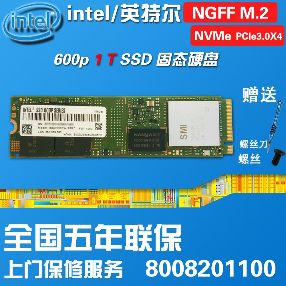 Intel/ Intel 600P 1T M.2 2280 NVME Pcie3.0X4 SSD genuine цена