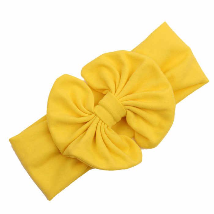 Красные различные способы ношения повязка на голову для девочек бант большой бант дети Головы Обертывания Аксессуары бандо cheveux 827