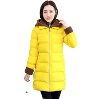 Winter Jacket Women Thickened Warm Fashion Faux Lambswool Fur Collar Hooded Coat Plus Size Cotton Padded