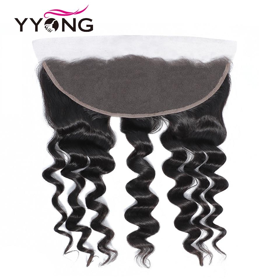 YYong Loose Deep Wave Bundles With Frontal   3/4 Bundles With Closure  Hair Lace Frontal With Bundles 5