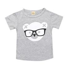 Toddler 2018 Summer Girls T-Shirts Clothing Cute Bear Cotton Short Sleeve Cartoon Children T Shirts 1-6Y Boys High Quality Tees
