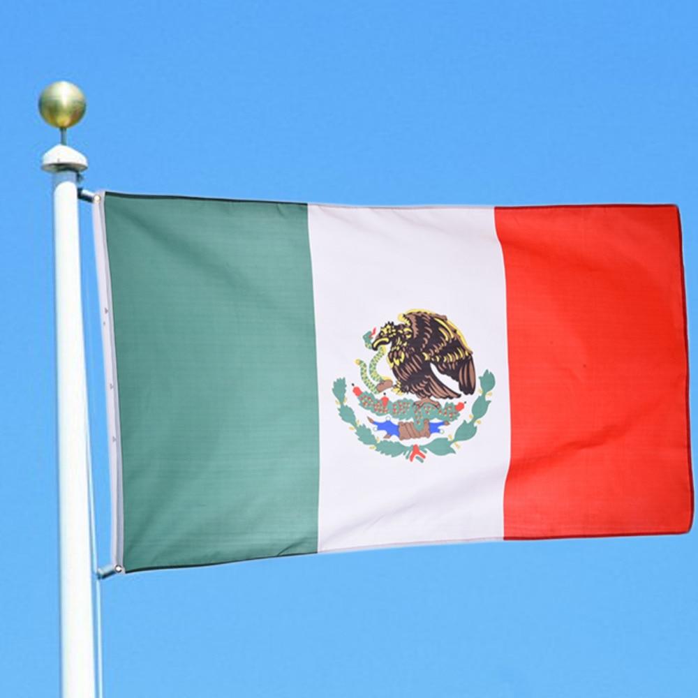 High Quality 90cmx150cm Polyester Banner Flag <font><b>Mexico</b></font> National Flag For Festivals Historical Events <font><b>World</b></font> <font><b>Cup</b></font> <font><b>Olympic</b></font> Games