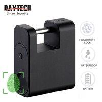 DAYTECH умный отпечаток пальца для дверного навесного замка замок защитный ящик USB Перезаряжаемый IP65 Водонепроницаемый багажный чехол замок-А...