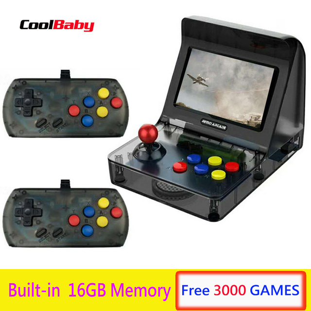 CoolBaby Game console handheld For Kids 4.3 inch 64bit 3000 Video Games classical Family Portable Game Console Portable Retro
