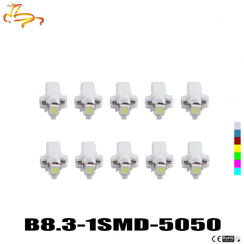 10pcs T5 B8.3D 5050 Led Lamps Car Gauge Speedo Dash Bulb B8.5 LED Dashboard instrument Light 12v blue red green white yellow 4pcs positive earth blue ba7s led dashboard gauge warning switch bulb 12v red white green amber glb281