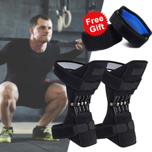 1 Pair Non-slip Joint Support Knee Pads Power And Free Gift 1 Pair Elbow Support Powerful Rebound Spring Force Knee Booster 1 pair joint support knee pads breathable non slip power joint support knee pads powerful rebound spring force knee booster