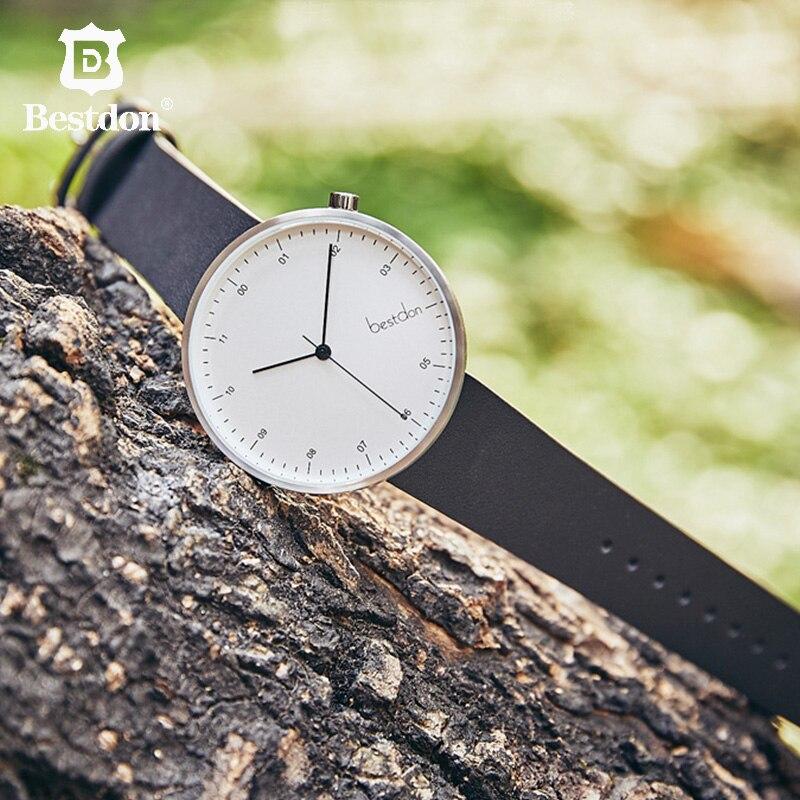 Bestdon Mode Lederen Horloge Voor Mannen Luxe Casual Horloge Zwitserland Top Merk Quartz Horloge Dropshipping 2019-in Quartz Horloges van Horloges op  Groep 1