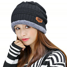 2019 унисекс для женщин зимняя шапка толстые теплые облегающая шапка Beanie Балаклава шапки мягкие шерстяная вязаная Шапочка женский Gorras