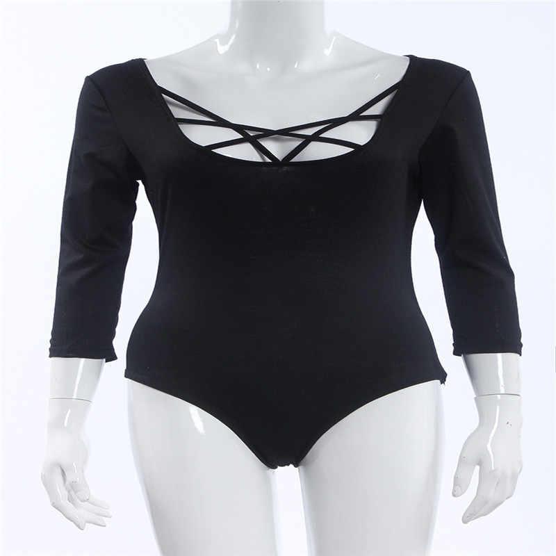 Takerlama, хит, сексуальный женский боди с рукавом 3/4, бодикон, для девушек, трико, боди, топы, комбинезон, футболка, Клубная одежда, v-образный вырез, открытая, боди