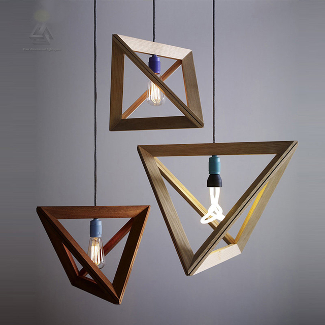 Vintage Cord Pendant Lights Wood Socket Retro Lamp 120cm Colorful Wire Wooden Chandelier Ceiling