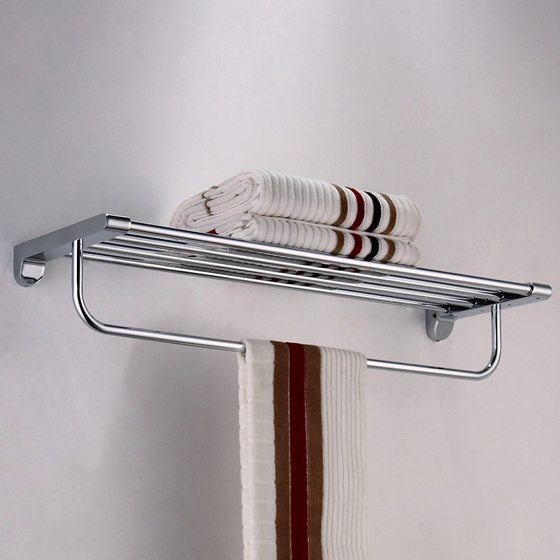 High quality  towel holder Bathroom shelf Bathroom towel rack chrome plating Bathroom accessories стоимость