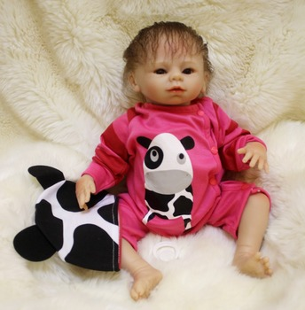 18inch silicone reborn dolls for kids gift soft cloth body real newborn baby looking rebron babies child doll bebe toys bonecas