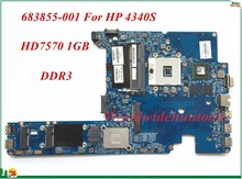 High Quality Motherboard 683855-001 For HP 4340S Laptop Motherboard PGA989 HD7570 1GB DDR3 100% Tested&Testing Video Support(China)