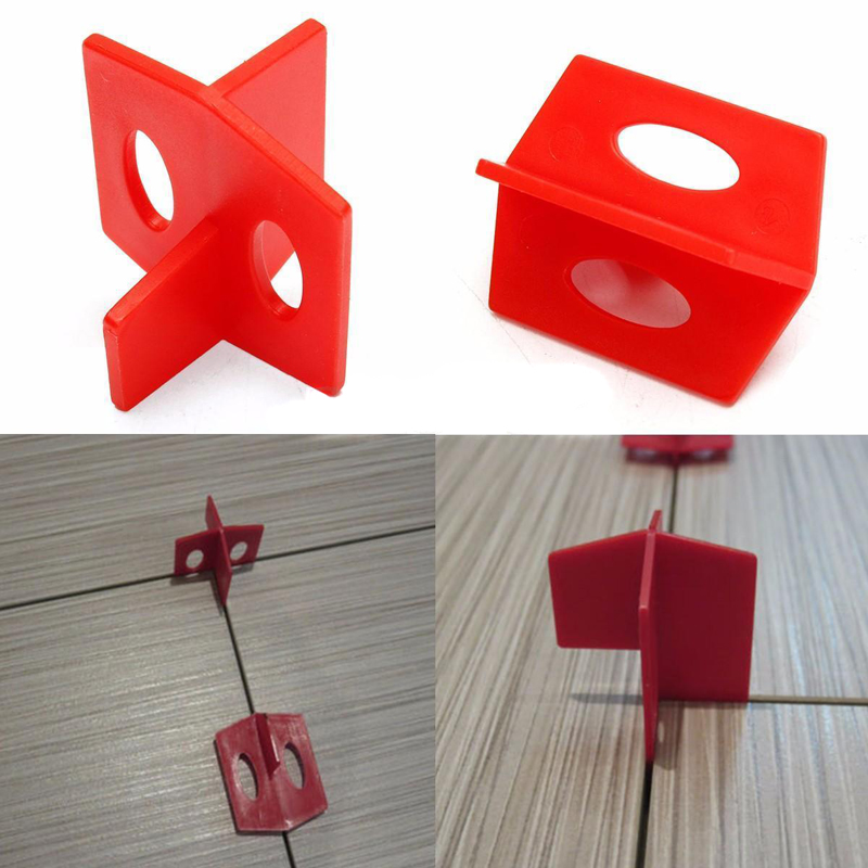 50pcs 116 Tile Leveling Systems Practical 3 Sides Cross Spacer