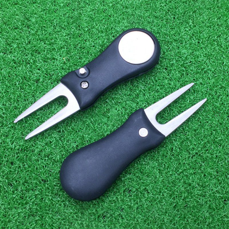 Image 5 - 1 Pc Golf Divot Tool Repair Switchblade Tool Pitch Groove Cleaner Golf Pitchfork Golf Accessories Putting Green Fork Dropship-in Golf Training Aids from Sports & Entertainment