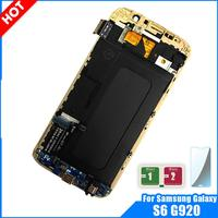 For Samsung Galaxy S6 G920 LCD Display Touch Screen Digitizer Assembly Replacement with Frame S6 G920 G920A G920F LCD Adjustable