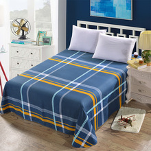 Bed Flat Sheet with Pillowcase 100% Cotton Printed Linen Queen Home Textile Mattress Covers With Elastic For King Size