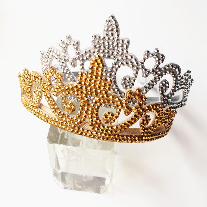 Luxury Quality Artificial Glitter Felt Sequins Hair Band Children Trendy Hotsale Crown Kid Headband Children Lovely Hairband 8pc