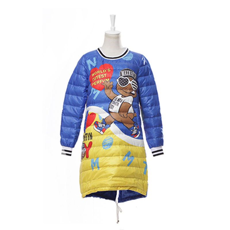 Femelle Lâche Veste Pull Nouvelle D'o 2018 Chaud Imperméable De cou Femmes Robe Vers Casual Animé Manteaux Doux Le Bas Dessin Survêtement Impression Blue D'hiver aRSTASWnxq