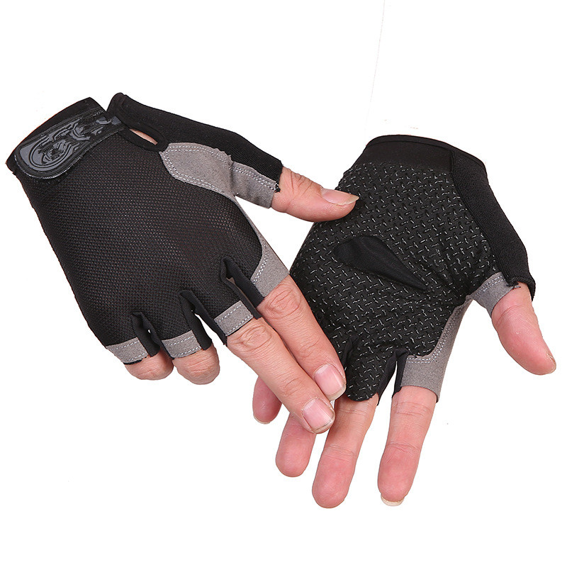 1PC Summer Style High Elastic Breathable Mesh Half-fingered Non-slip Outdoor Sports Cycling Gloves Riding Gloves Wear-resisting