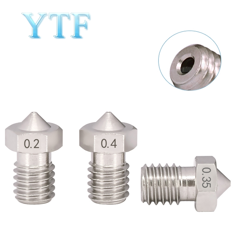 3D Printers Parts E3DV5 V6  J-Head Stainless Steel Nozzle M6 Screw Thearded 0.2mm 0.3mm 0.5mm 0.4mm 0.6mm 0.8mm