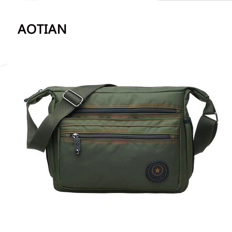 Hot ! Waterproof Men Nylon Bag Casual Travel Bolsa Masculina Men's Shoulder Crossbody Bag Men Messenger Bags bolsas 1pcs/Lot