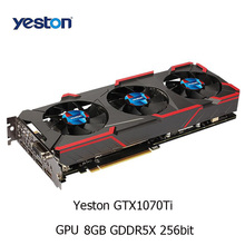 Yeston GeForc GTX 1070Ti Graphic Card GPU Integrated with 8GB GDDR5X 256bit Memory 8008MHz Support DVI