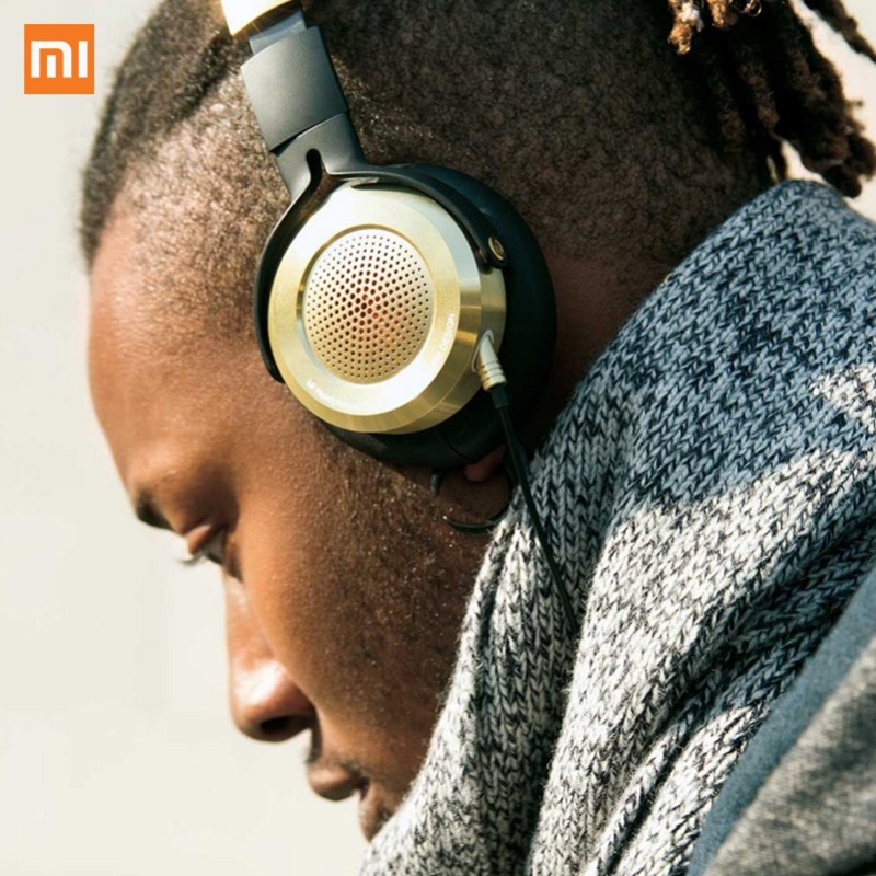 New Version Xiaomi Headset Mi HiFi Stereo Headphone with Mic Foldable 3.5mm Music Earphone Beryllium Diaphragm Microphone Luxury